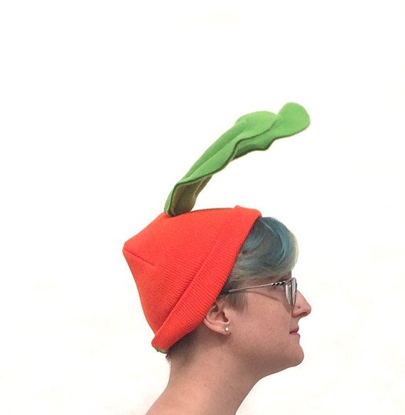What's up, Doc? Carrot Beanie - Vegetable Costume Piece - Easy Halloween Costume  from Jumbo Jibbles. Fits toddlers to adults!