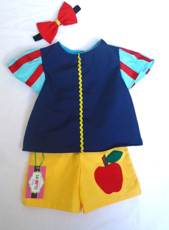 Snow White Set  Top and Bottom  Dress UpPrincesses Birthday, Princesses Outfit, Sets Tops, White Sets, Disney Outfit, Ready2Ship Tops, Princesses Parties, Bottom Princesses, Snow White