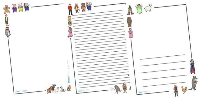 Twinkl Resources u003eu003e Traditional Tales Page Borders u003eu003e Thousands of - printable writing paper with border