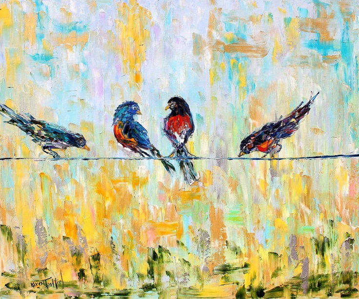 17 Best images about birds on a wire art on Pinterest ...