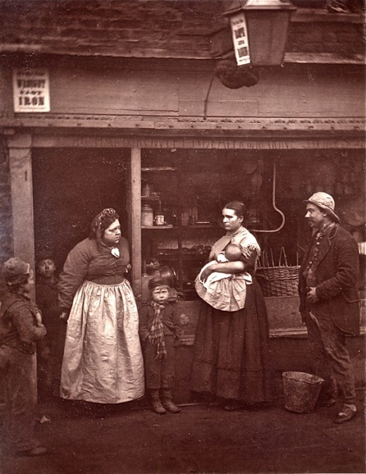 Street life in London, 1876. John Thomson; copyright Bishopsgate Institute via Spitalfields Life