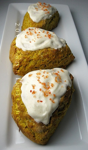 Pumpkin scones, Scones and Cream cheese glaze on Pinterest