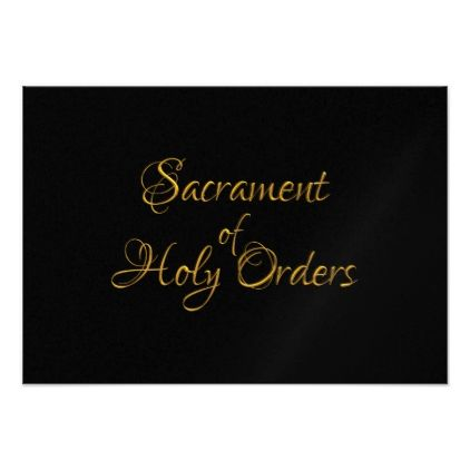 Sacrament of Holy Orders Golden 3D Look Card - invitations custom unique diy personalize occasions