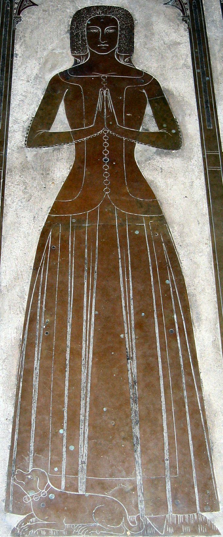 Margaret de Cobham, died 1375 Cobham, St Mary Magdalene Kent England