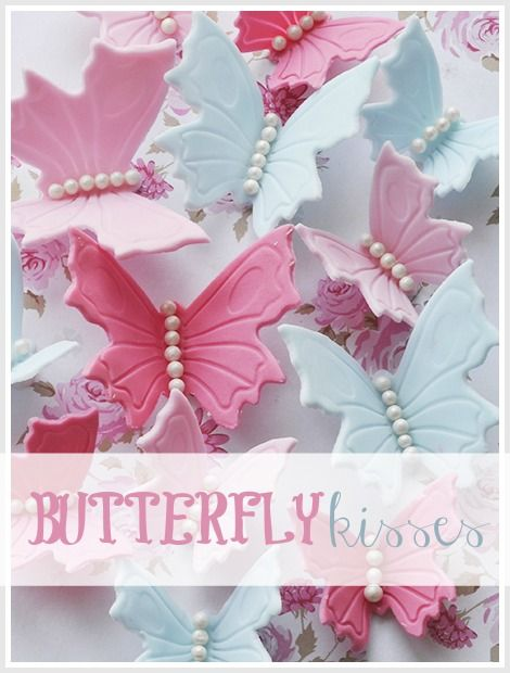 Fondant Butterfly Tutorial These done in clay would be darling in a little girls hair