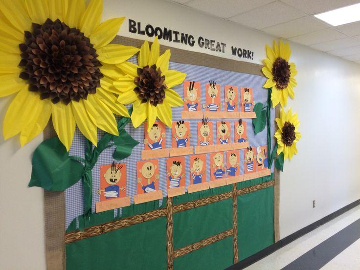This Is A Bulletin Board Idea From The Flower Wreath Idea