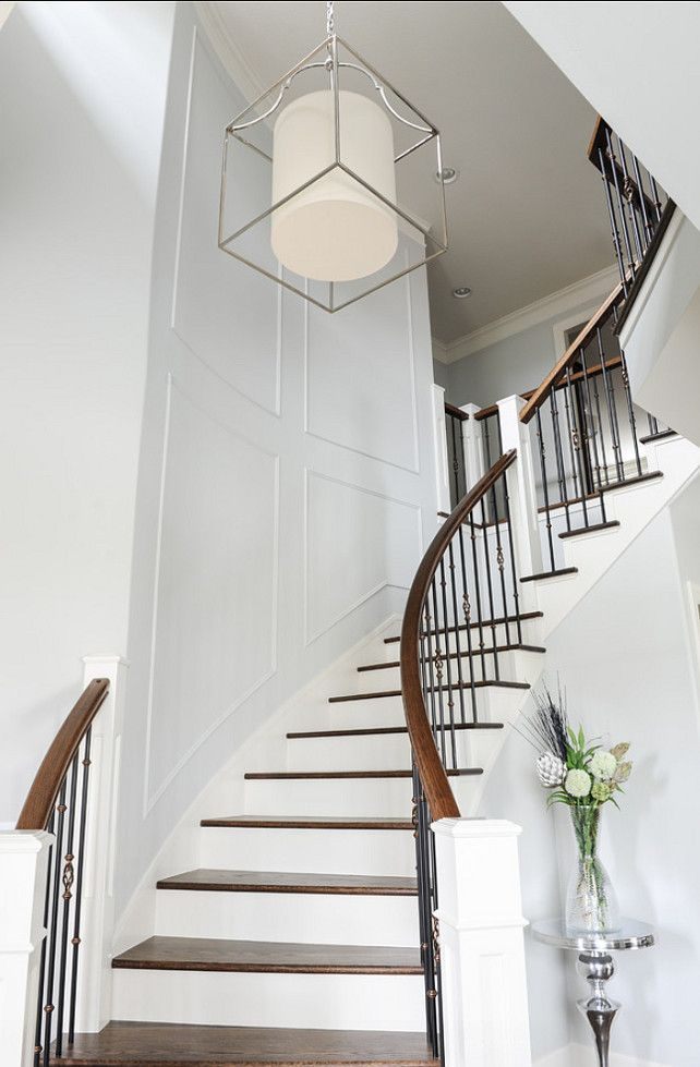 80 best images about wrought iron railings on pinterest for House plans with stairs in foyer