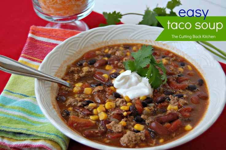 Easy Taco Soup {made from pantry staples}