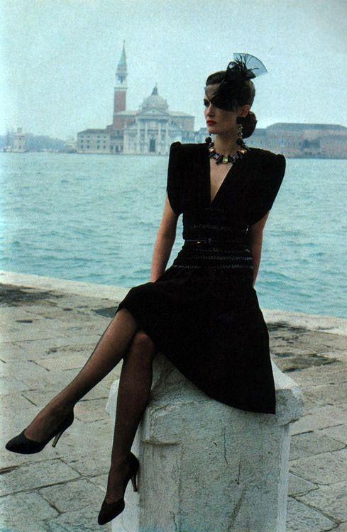 Yves Saint Laurent Rive Gauche, American Vogue, September 1983.