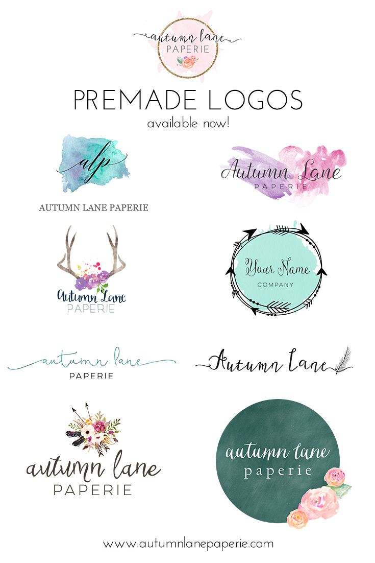 Autumn Lane Paperie | Pre-made Logos | Pre-designed Logos | Business Branding | Brand Identity Services | Website Design | Wordpress Websites | Shabby Chic Logos | Watercolor Logos | Rustic Logos