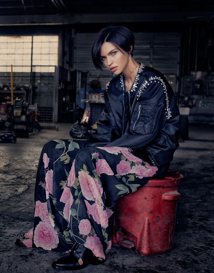 Ruby Rose wears floral print in a cover story for the January 19th, 2017 issue of The Edit Magazine.…