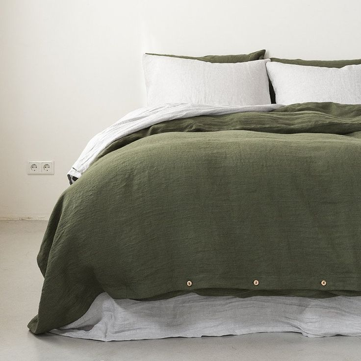 Linen duvet cover moss green | By Mlle | sleeping By ...