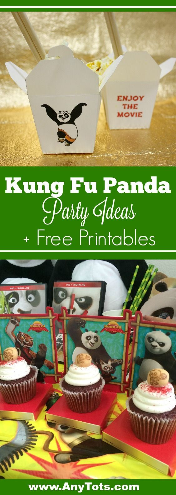Kung Fu Panda Party Ideas and Kung Fu Panda Free Party Printable Chinese Take Out box and Kung Fu Panda Free Coloring Sheets. Kung fu panda masks, kung fu panda party supplies and more. Complete Kung Fu Panda Party Ideas on the blog, www.anytots.com