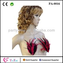 Ladies Red Black Sexy Feather Nipple Cover For Party Show Best Seller follow this link http://shopingayo.space