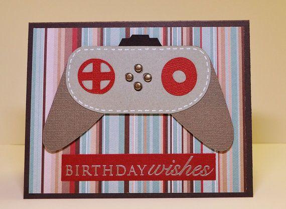 masculine handmade birthday card video game geek