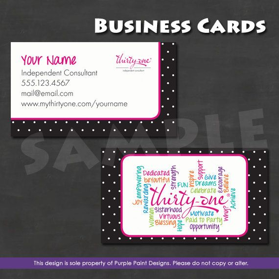 22 best thirty one business cards images on pinterest business direct sales business card chalkboard design reheart Gallery