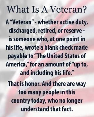 The military should focus more on emphasizing the value of a veteran as  oppose to forgetting all about them as soon as the contract is over. Learn to love your veterans and honor all that they have done.