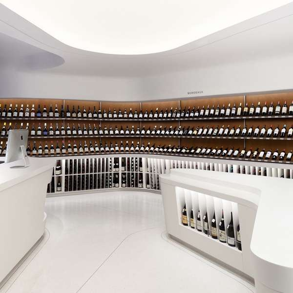 Sleekest Bottleshop I've ever seen.    Undulating Liquor Shops - The Rogers Marvel Architects 'Vintry Fine Wine' Shop is Eye Ca (GALLERY)