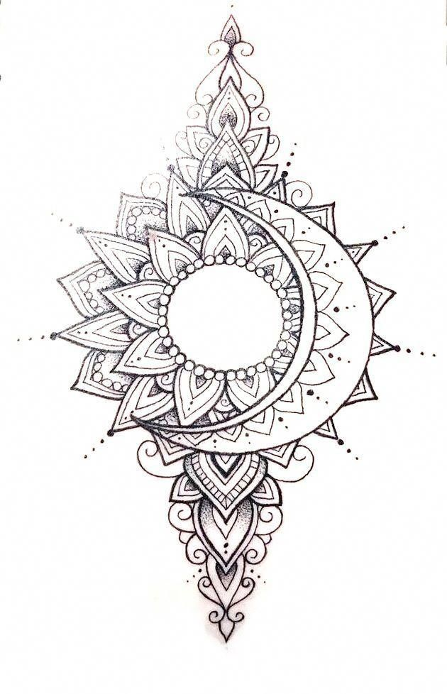 Pin By Heather Kerr On Art In 2020 Sleeve Tattoos Moon Tattoo Designs Mandala Tattoo Design