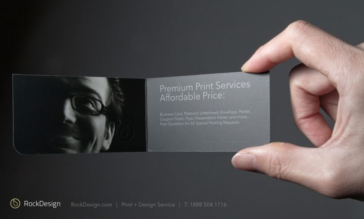 46 best business cards images on pinterest carte de visite rockdesign style business cards folded business cards accmission Images