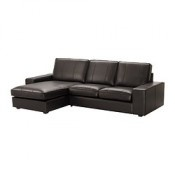 IKEA KIVIK Causeuse méridienne Grann brun foncé (KIVIK Loveseat and chaise lounge Grann dark brown) - Designer: Ola Wihlborg - Référence: S79904703