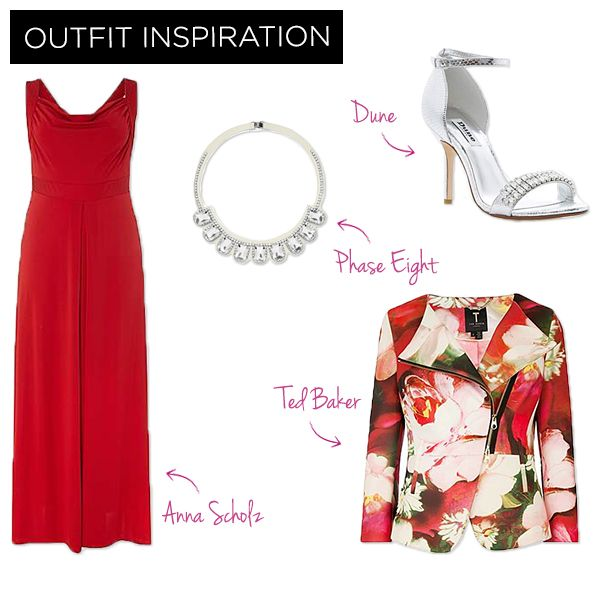 For date night – you can't go wrong with a classic red dress, and update this look with sharp silver accessories for a flirtatious finish!: Date Night