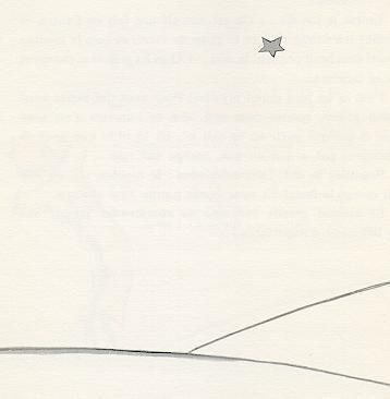 the loveliest and saddest landscape, it's here that the little prince appeared…