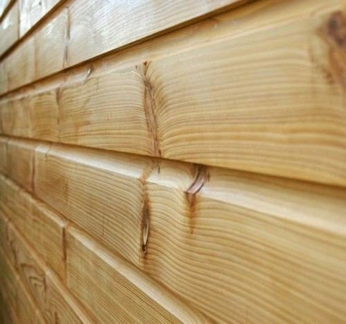 150mm x 15mm Thick Treated Wooden Shiplap Cladding Boards 2.4m (50)