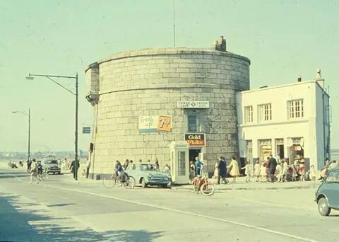 Sandymount, Martello Tower in Dublin, 1966.