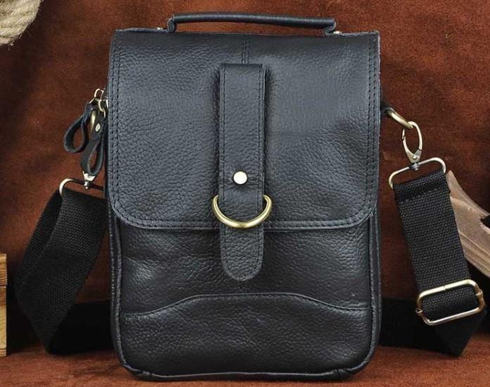 Cool Vintage Leather Mens Small Side Bag Messenger Bag