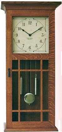 1000 images about craftsman clock on pinterest for Arts and crafts style wall clock