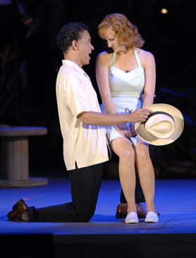 Reba and Brian in South Pacific at the Hollywood Bowl