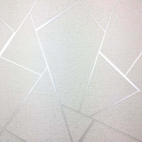 Fine Decor Apex Quartz Metallic Wallpaper Abstract Triangle