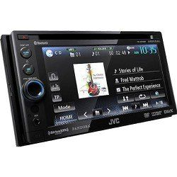 JVC Bluetooth Double-DIN In-Dash ARSENAL DVD Multimedia Receiver (KWADV65BT) by JVC. $369.95. The JVC KW-ADV65BT DVD/CD/USB receiver features a fully detachable 6.1 WVGA display, Built-in Bluetooth Wireless Technology, a rear USB port with 2-way iPod control and the App Link Mode feature, works with Pandora. The KWADV65BT is both Satellite Radio with the new SXV200v1 tuner sold separately, and is WAV/MP3/WMA/DIVX compatible. The unit also features MOS-FET 50 watts x 4, ...