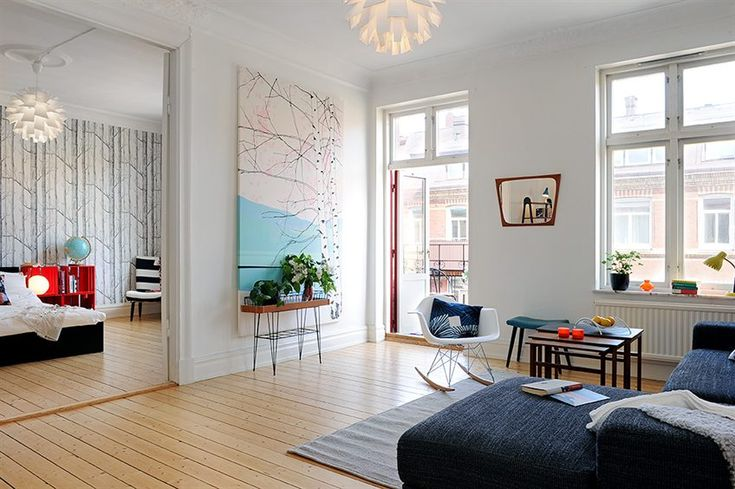 bedroom/sitting room: simple, clean, moderm and so much room for love