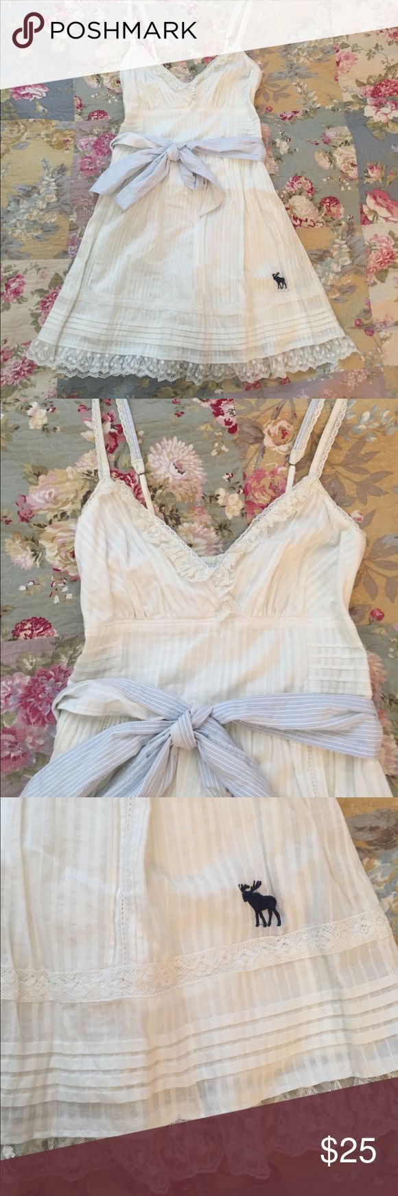 Selling this White Abercrombie dress on Poshmark! My username is: dliverson. #shopmycloset #poshmark #fashion #shopping #style #forsale #Abercrombie & Fitch #Dresses & Skirts