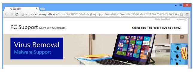 http://de.cleanpc-threats.com/entfernen-ozozz-scan-vasegiraffe-xyz-pop-up-ads ozozz.scan.vasegiraffe.xyz pop up ads ist ein böse Adware-Programm, das so viele schädliche Viren zugreifen, die Ihr System sehr schwach macht. Also sollten Sie dieses entfernt Tool zum Entfernen ozozz.scan.vasegiraffe.xyz pop up ads befolgen, die leicht vom PC.