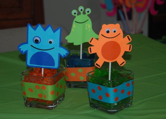 Little Monster Party Decorations by AmandasParty on Etsy, $6.00