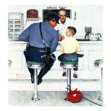 """Runaway"", September 20,1958 Giclee Print by Norman Rockwell at AllPosters.com"