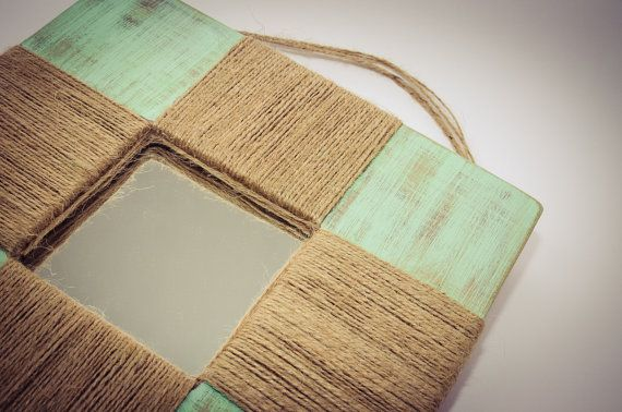 Mint mirror by Wudies on Etsy