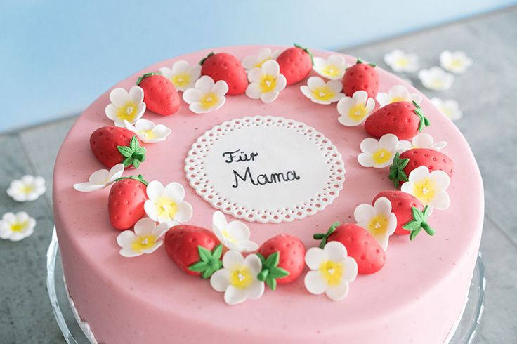 Muttertagstorte  Mothers Day Fondant cake
