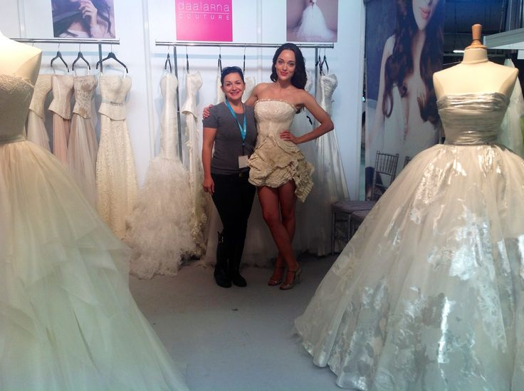 With our model, Nelli at our booth.