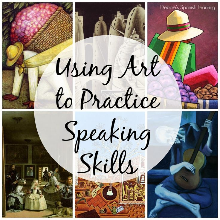 Art and Speaking Skills in a Foreign Language Classroom {Free Printable}