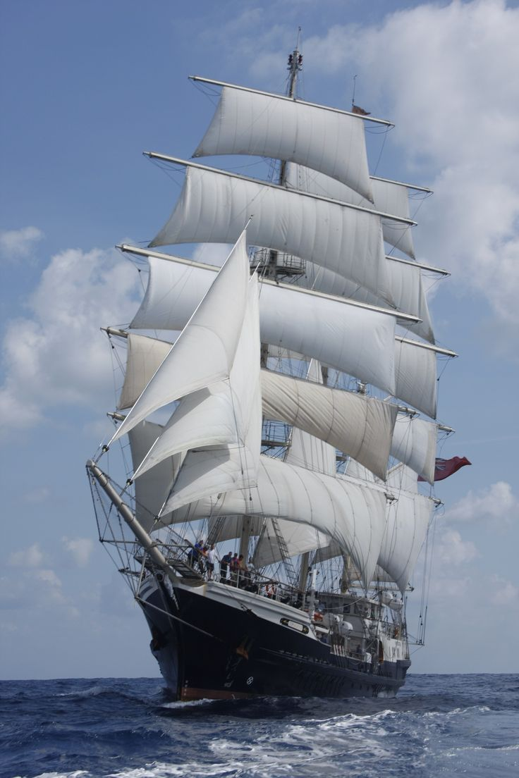 The world's biggest wooden ship sails into Sydney today