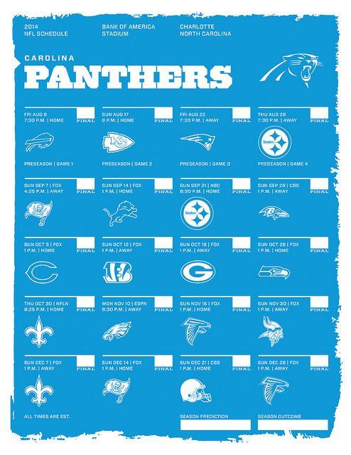 Carolina Panthers 2014 NFL Schedule