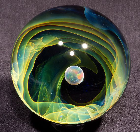 Opal Void Borosilicate Marble 2.25 1118.1 by BlueGooseStudios, $150.00 WOW WOW WOW ~ INCREDIBLE!!