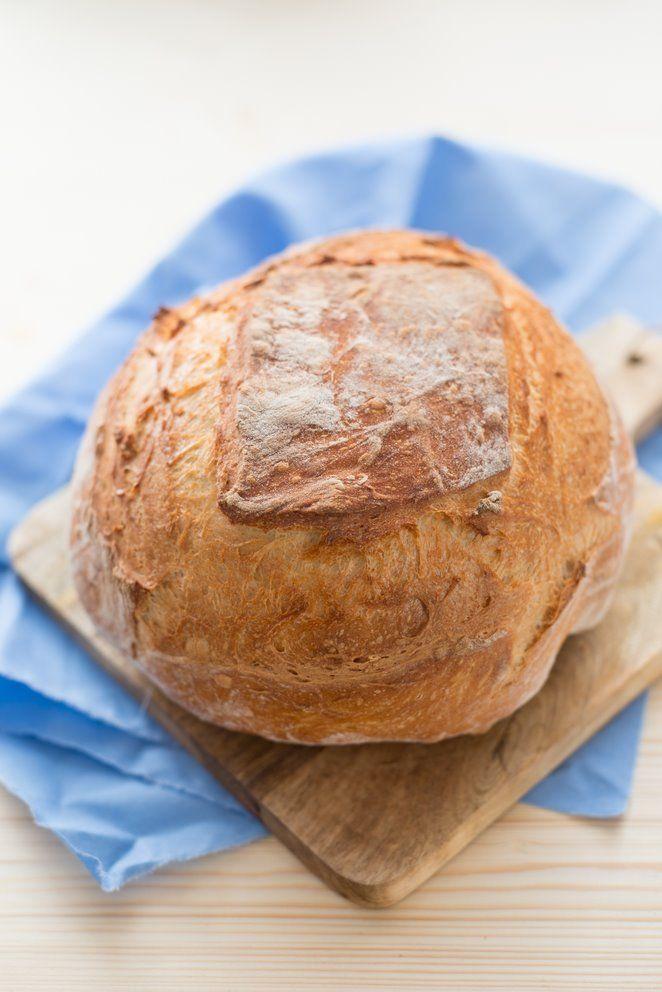 Schnelles Brot mit Trockenhefe (Pain avec de la levure sèche) backen brot fruehstueck fruehstueck-brunch Französisch Kochen by Aurélie Bastian