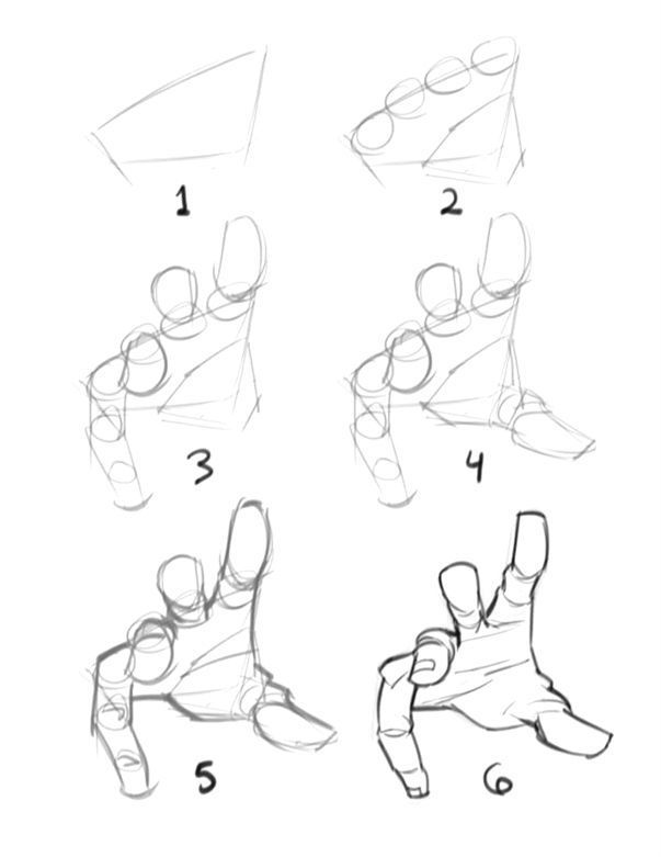 "Quick ""how to draw #a hand"" by Kyle Petchock Graph…"