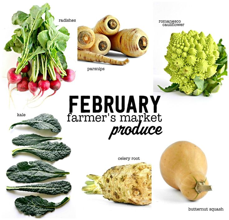 What's in Season for February - A great selection of in season produce to use this month