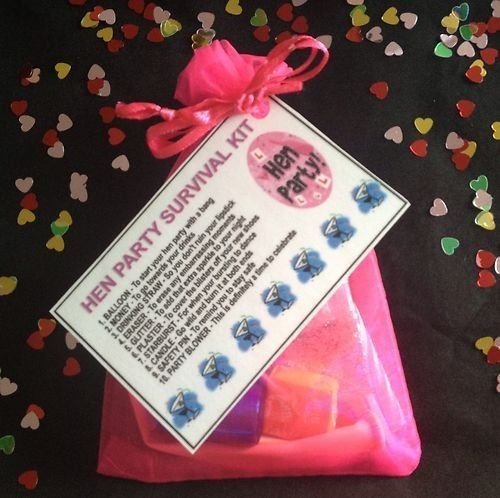 Hen Party Survival Kit - Hen Night Gift For Bride To Be & Hens - Pre Filled Bag